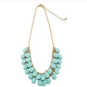 ❤️ TEAL TEARDROPS NECKLACE ❤️